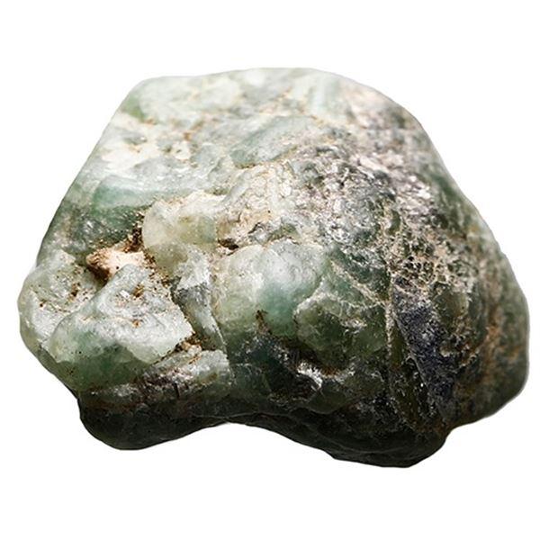 Natural emerald (crude), 6 carats, ex-1715 Fleet.
