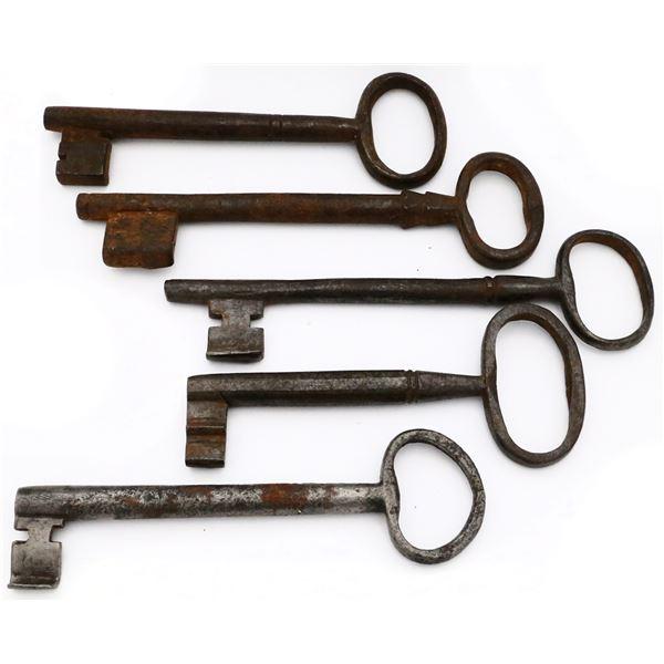 Spanish iron keys, 1600s-1700s.
