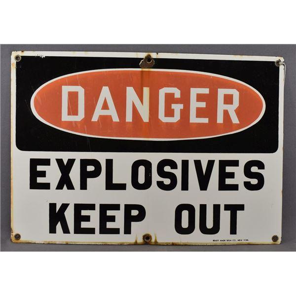 ENAMEL WARNING SIGN