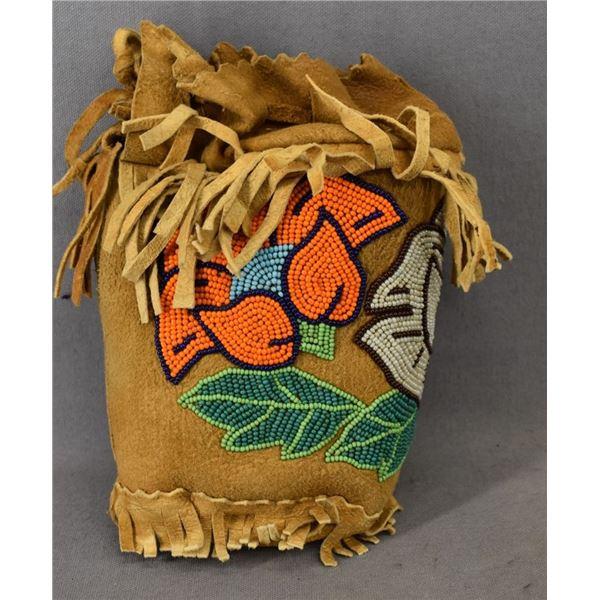 CREE INDIAN BEADED BAG