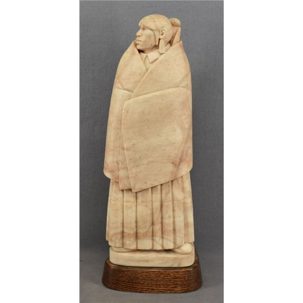 NAVAJO INDIAN ALABASTER SCULPTURE ( ORELAND JOE)