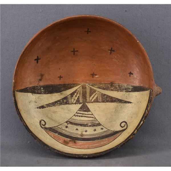 HOPI INDIAN POTTERY BOWL (SADIE ADAMS)