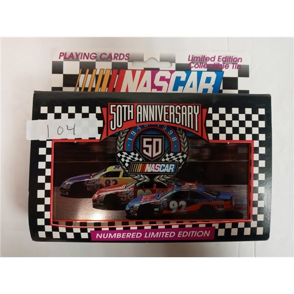NASCAR 50th ANNIVERSARY PLAYING CARDS 2 DECKS LIMITED EDITION SEALED NEW /400000