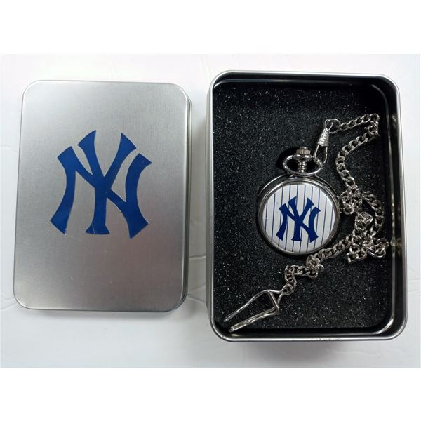 NEW ONE OF A KIND YANKEES POCKET WATCH