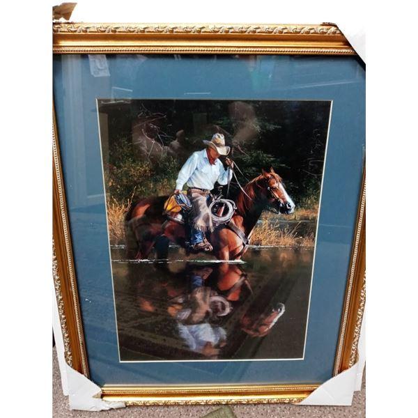 NEW COWBOY FRAMED ART $199.00