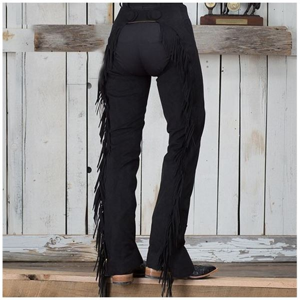 HOBBY HORSE GREEN SUEDE LADIES (M)CHAPS /$489.00