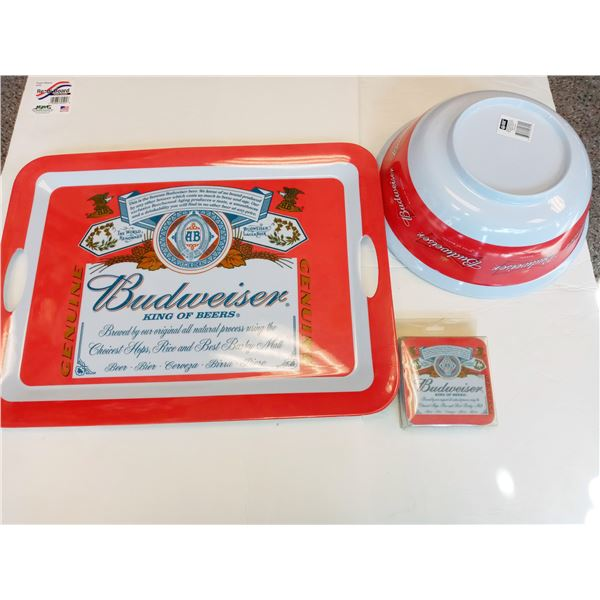 NEW 10PC BUDWEISER PARTY SET