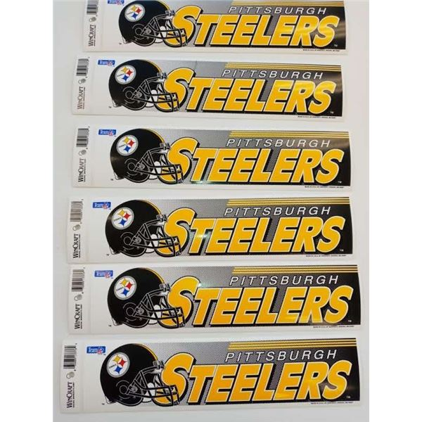NEW NFL STEELERS BUMPER STICKERS(SET OF 6)
