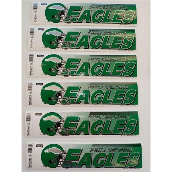 NEW NFL PHILADELPHIA EAGLES BUMPER STICKERS (SET OF 6)