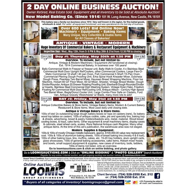 ALL ITEMS WITHOUT BIDS WILL BE RE-OFFERED ON DAY #2
