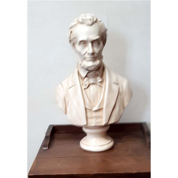 PRES. LINCOLN ALABASTER SCULPTURED BUST