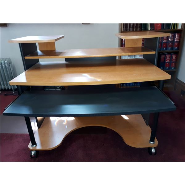 SUPER NICE HIGH END DESK ON ROLLERS