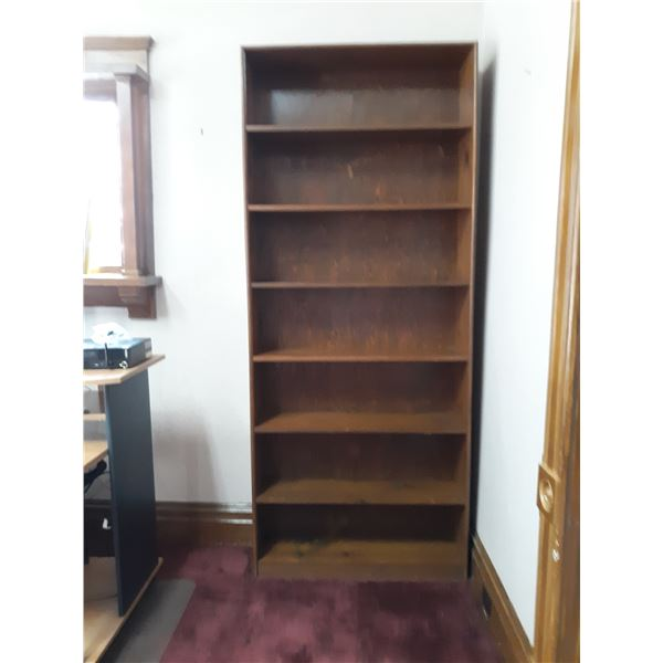 7 SHELF WOODEN BOOKCASE/SHELVING & DISPLAY UNIT