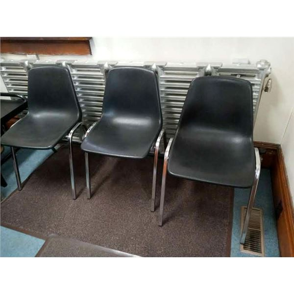 LAMINATE/METAL VINTAGE CHAIRS (7)