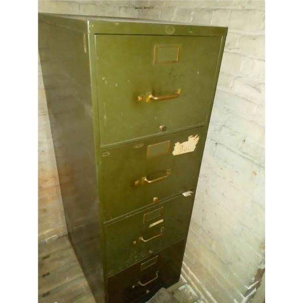 VINTAGE 4 DRAWER MILITARY FILING CABINET