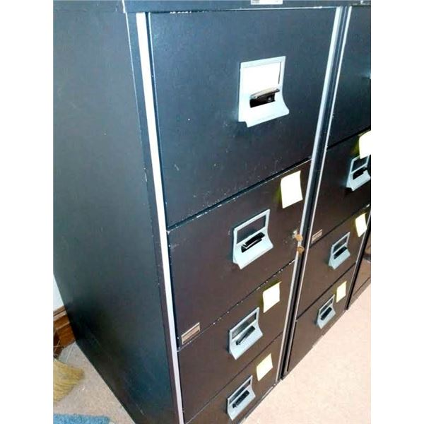 4 DRAWER VICTOR FIREPROOF FILING CABINET