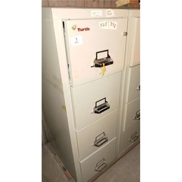 TURTLE SECURITY FIREPROOF 4 DRAWER FILE CABINET