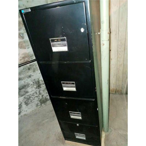 SECURITY 4 DRAWER FILE CABINET