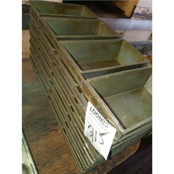 """4  LOAF  COMMERCIAL  BREAD PANS , 9.5"""" X 22"""" (5)"""