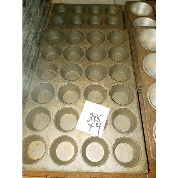 24 CAVITY MUFFIN PANS (4)