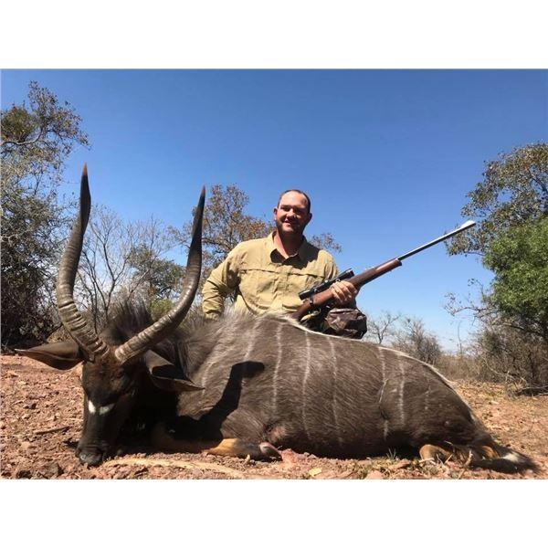 Seven Day South African Nyala & Gemsbuck Safari for Two Hunters