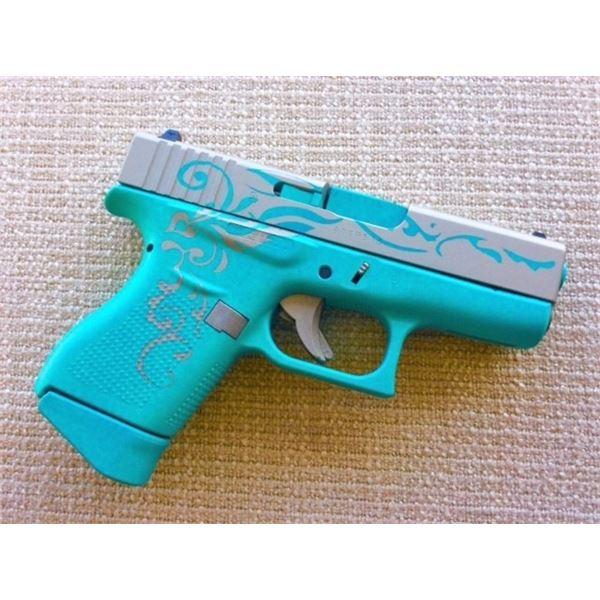 HERITAGE COLLECTABLES: Custom Tiffany & Co. 9 MM Glock 43 Pistol