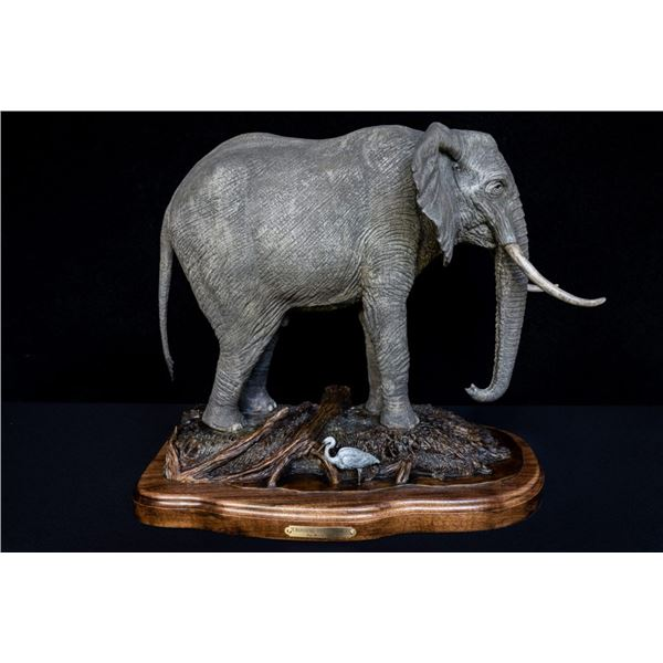 DEVIN ROWE: Crossing the Zambezi - Elephant Bronze Artwork