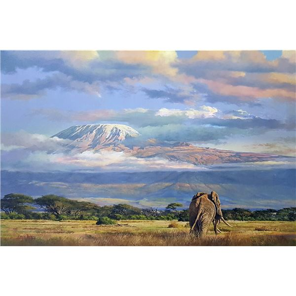 DAWIE FOURIE: Kilimanjaro Romance - Original Oil on Canvas Painting