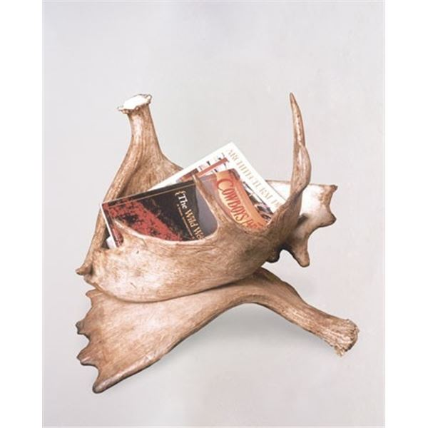 TERRY WILSON ANTLER DESIGNS: Moose Antler Magazine Rack