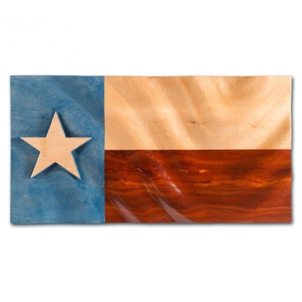 AFRICAN SPORTING: Custom-Crafted Texas Flag Art Display