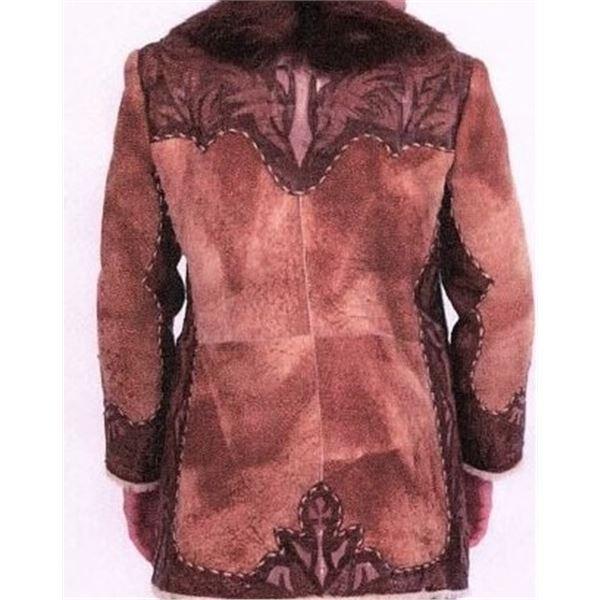 ALASKA FUR GALLERY: Stony Shearling Jacket with Cayman/Stingray Inserts and Beaver Tuxedo