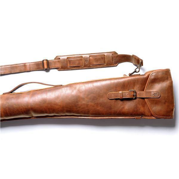 TOM BECKE: Chestnut Brown Leather Gun Sleeve