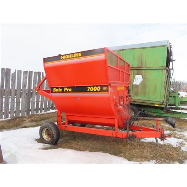 Highline Bale Pro 7000 HD Left Hand Bale Processor S#BPHD004732
