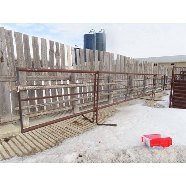 2 Metal Self Standing Panels 1) 32' Metal & Cable 1) 24.5' - 5 Bar Metal Pane