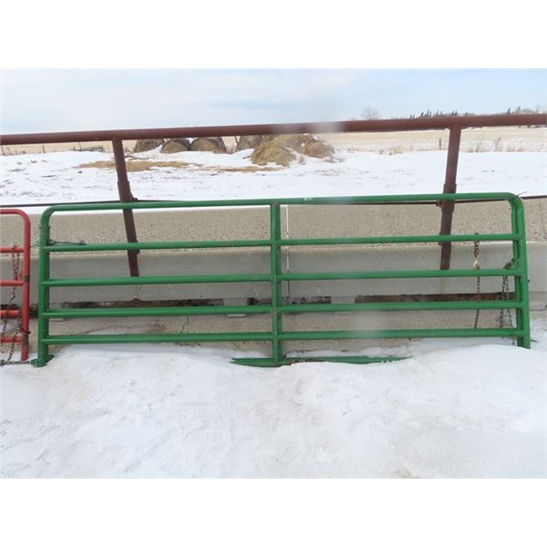 2 H & W Painted Metal Gates 12' 6 Bar