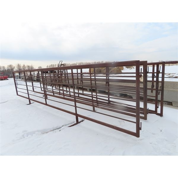 5 Metal Self Standing Panels- 24' w Removable Bars - So Multi-use - Panel/Creep Feeder Panel / Bunk