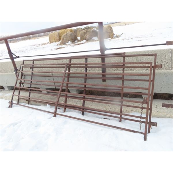 3 Metal Gates 7 Bar 2) 10' & 1) 8'