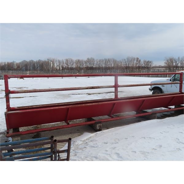 Ranchers Welding 24' Steel Feed Bunk