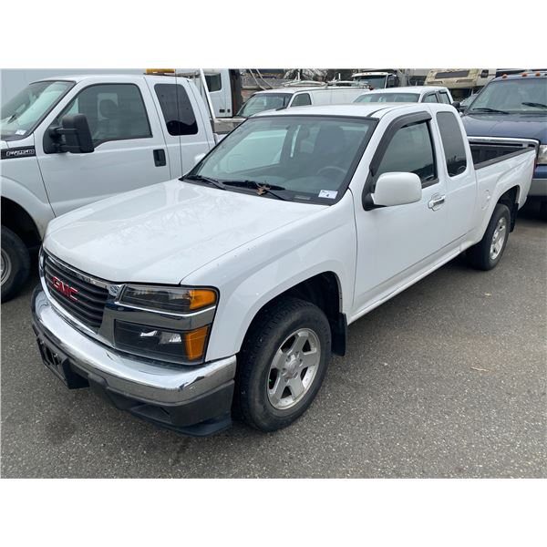 2012 GMC CANYON SLE, 2DR EXT CAB, WHITE, VIN # 1GTE5NFE8C8147650