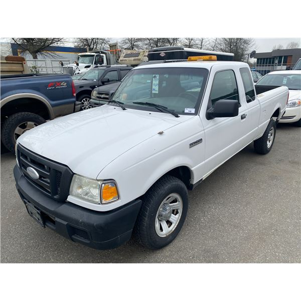 2007 FORD RANGER, 2DR EXT CAB PU, WHITE, VIN # 1FTZR44U67PA87115