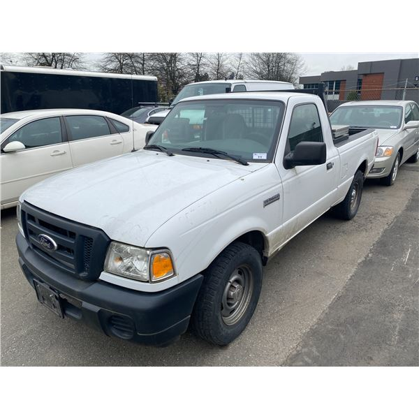 2009 FORD RANGER CONVERTED TO ELECTRIC, 2DR PU, WHITE, VIN # 1FTYR10D29PA50582