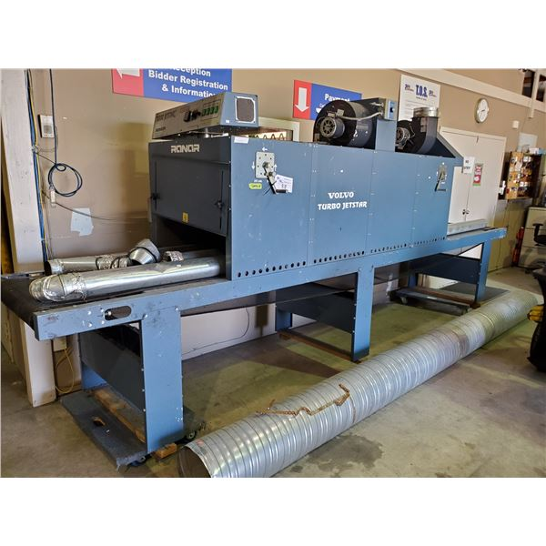 """RANAR TURBO JETSTAR DT-844 220V PHASE 3 INDUSTRIAL DRYER WITH DUCTING 16' X 32"""""""