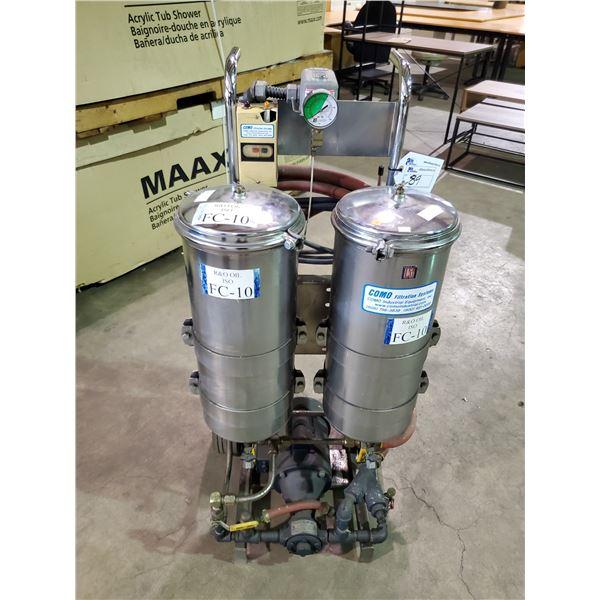 COMO MOBILE 120V PHASE 1 60PSI COMMERCIAL OIL FILTRATION SYSTEM MODEL: 120