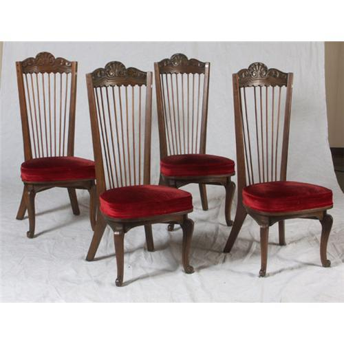 Fantastic Six Oak Spanish Colonial Style Dining Chairs Caraccident5 Cool Chair Designs And Ideas Caraccident5Info