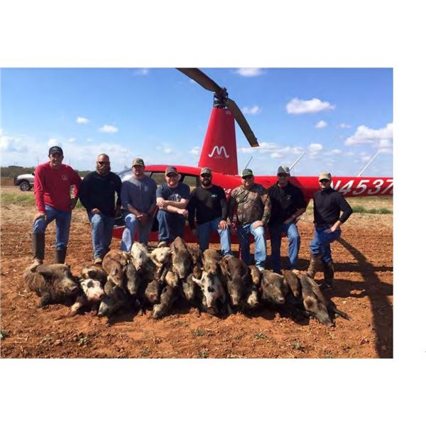 Helicopter Hog hunt for 1 in Texas