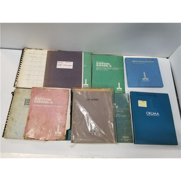 LOT OF MISC OKUMA MANUALS AND DOCUMENTATION *SEE PICS FOR DETAILS*