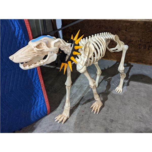 Reproduction dog statue skeleton