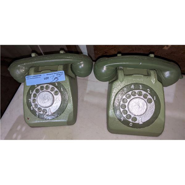 2 prop phones (rubber) FROM PROJECT BLUE BOOK