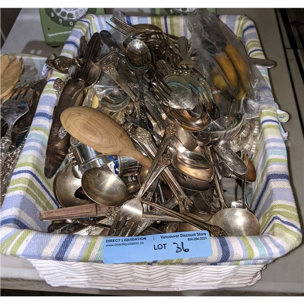2 boxes of vintage and newer silverware