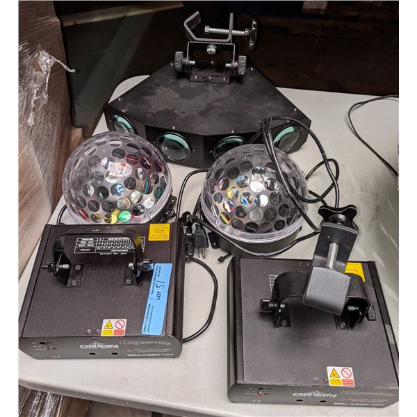 Lightings from production office (strobe lights and other lighting devices)